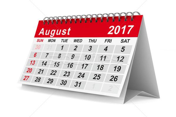 év naptár augusztus izolált 3D kép Stock fotó © ISerg
