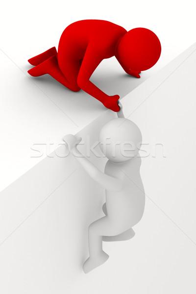 Helpen moeilijk situatie 3D afbeelding hand Stockfoto © ISerg