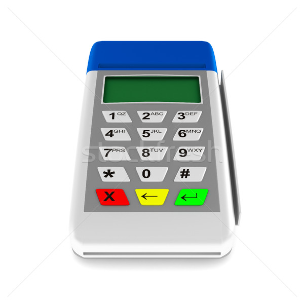 payment terminal on white background. Isolated 3d image Stock photo © ISerg