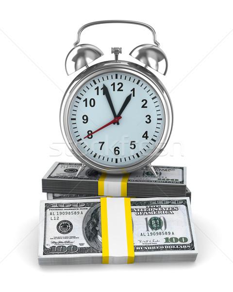 Il tempo è denaro isolato immagine bianco clock tempo Foto d'archivio © ISerg