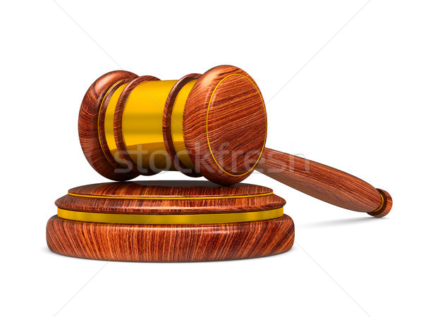 wooden gavel on white background. Isolated 3D illustration Stock photo © ISerg