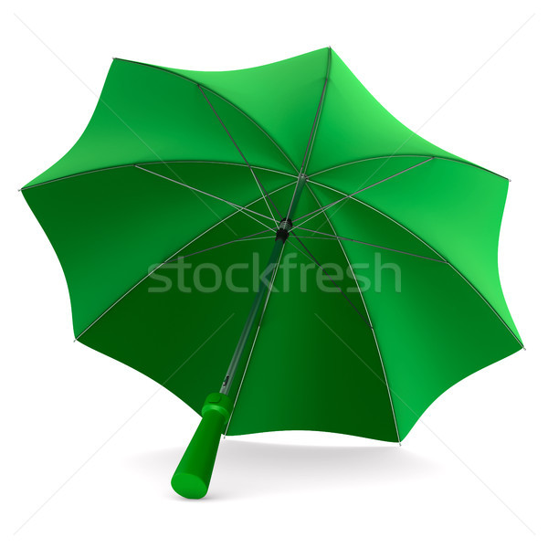 green umbrella on white background. Isolated 3d illustration Stock photo © ISerg