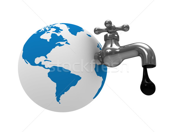 Oil stocks on earth. Isolated 3D image Stock photo © ISerg