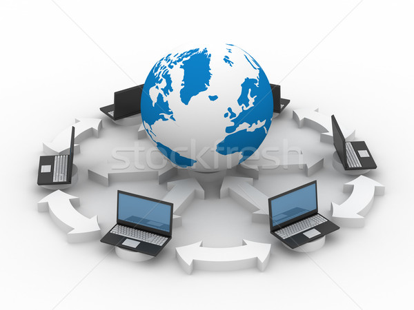 Global network the Internet. Isolated 3D image. Stock photo © ISerg
