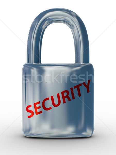 lock on a white background. Isolated 3D image Stock photo © ISerg