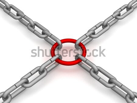 person ground in a chain. 3D image on white background. Stock photo © ISerg