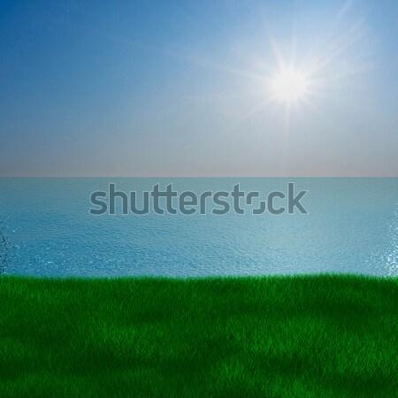 Sea landscape. 3D image Stock photo © ISerg