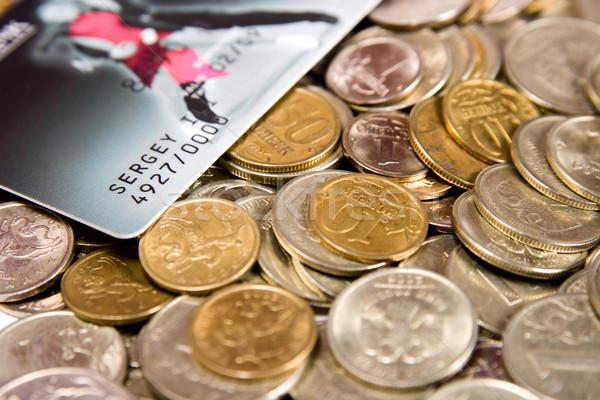 Russo metal monete carta di credito business soldi Foto d'archivio © ISerg
