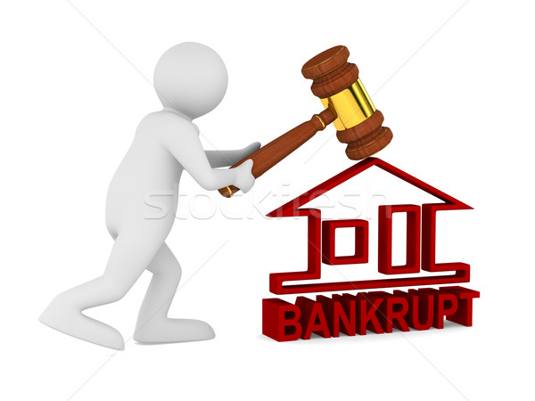 Bankruptcy on white. Isolated 3D image Stock photo © ISerg
