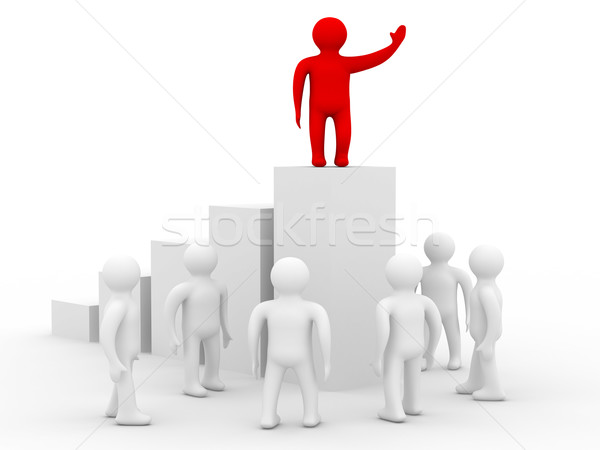 Stock photo: conceptual image of the leader. Isolated 3D image