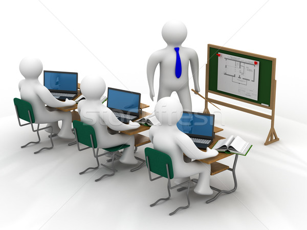 Lesson in a school class. Isolated 3D image Stock photo © ISerg