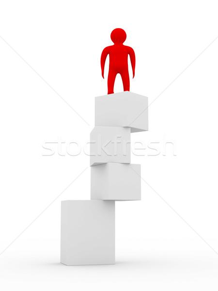 Instável saldo isolado 3D imagem branco Foto stock © ISerg