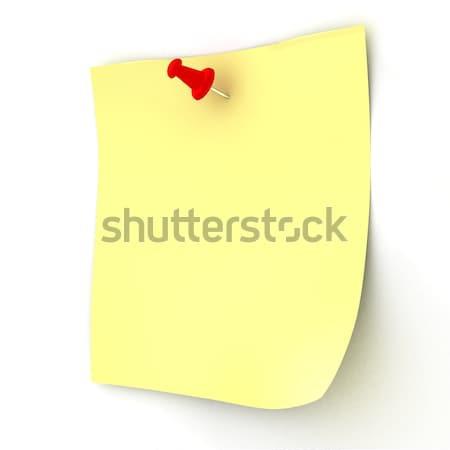 стандартный лист прилагается Pin 3D изображение Сток-фото © ISerg