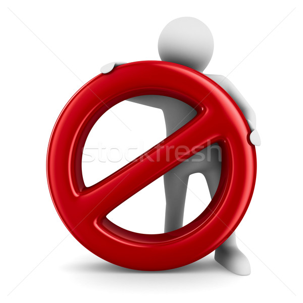 Sign forbidden on white background. Isolated 3D image Stock photo © ISerg