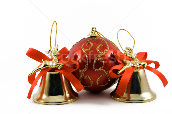 Two handbells and sphere on a white background Stock photo © ISerg