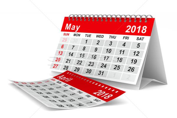 2018 year calendar. May. Isolated 3D illustration Stock photo © ISerg