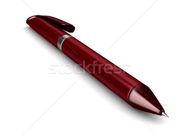 Foto stock: Bola · caneta · branco · isolado · 3D · imagem