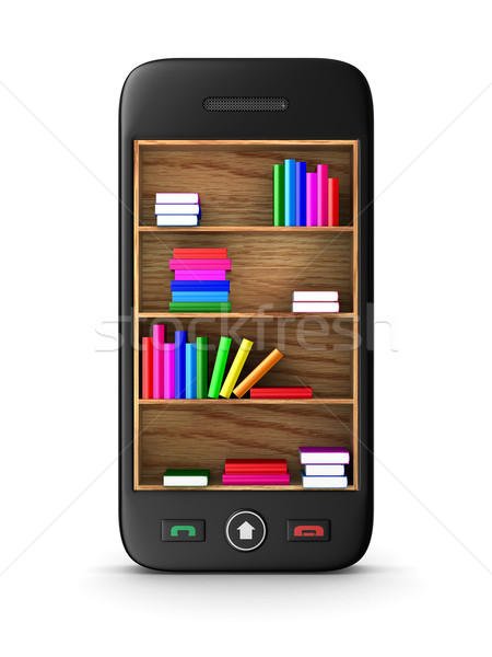 телефон белый изолированный 3D изображение образование Сток-фото © ISerg