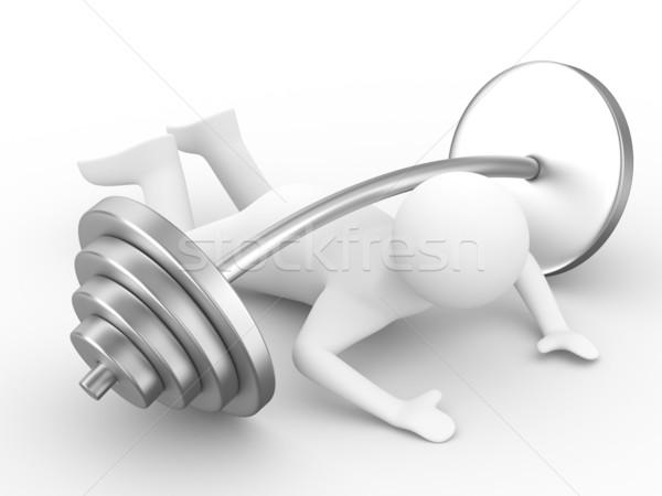 Сток-фото: вниз · штанга · изолированный · 3D · изображение
