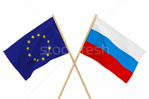 Zászlók EU izolált 3d illusztráció terv zászló Stock fotó © ISerg
