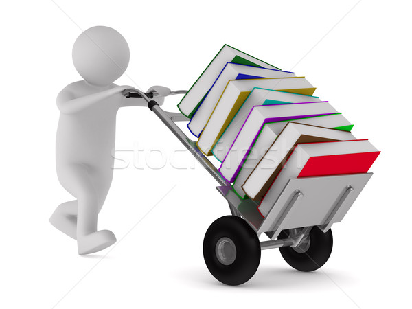 Chiuso libro libri bianco isolato 3D Foto d'archivio © ISerg