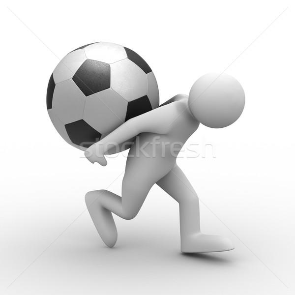 Uomini palla indietro isolato 3D Foto d'archivio © ISerg