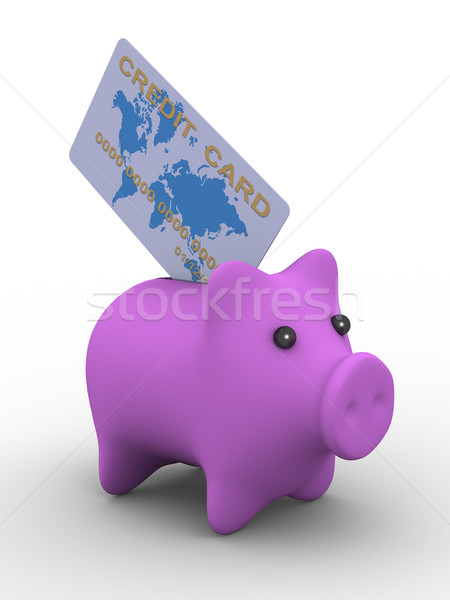 pig a coin box. Isolated 3D image Stock photo © ISerg