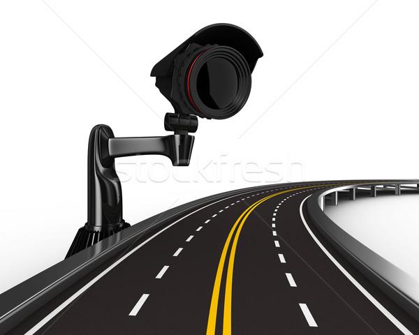 Stockfoto: Weg · camera · witte · geïsoleerd · 3D · afbeelding