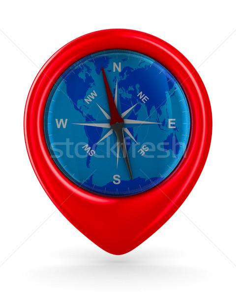 compass on white background. Isolated 3D image Stock photo © ISerg