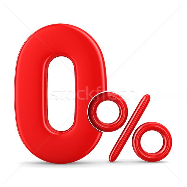 Zero por cento branco isolado ilustração 3d assinar Foto stock © ISerg