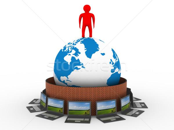 Foto stock: Protegido · global · rede · internet · 3D · imagem