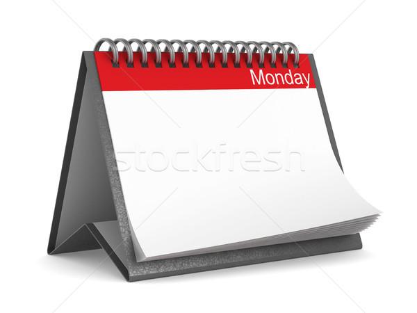 Calendar for monday on white background. Isolated 3D illustratio Stock photo © ISerg