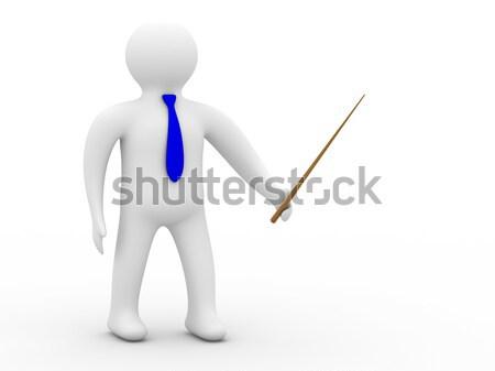 Mann Zeichen und weiß isoliert 3D Stock foto © ISerg