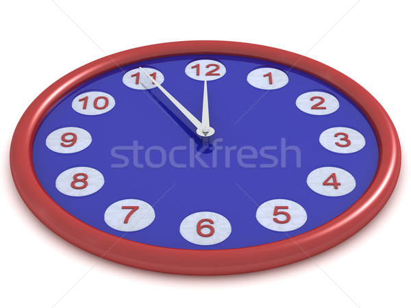 Round hours on a white background. 3D image Stock photo © ISerg