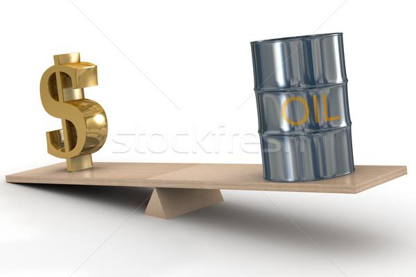 Cost of oil stocks. 3D image. Stock photo © ISerg