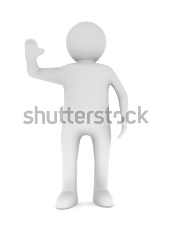 man on white background. Isolated 3D illustration Stock photo © ISerg