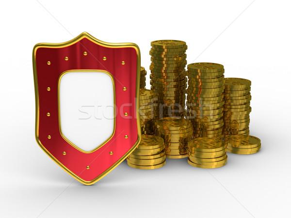 Protection of money. Isolated 3D image on white background Stock photo © ISerg