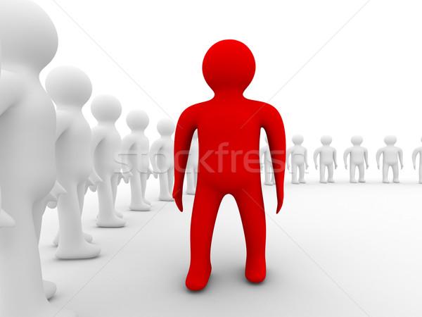 画像 チームワーク 孤立した 3D ビジネスマン 通信 ストックフォト © ISerg