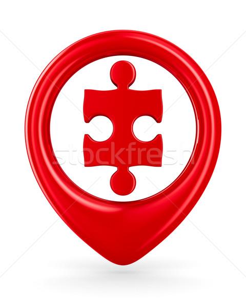 Puzzle into circle on white background. Isolated 3D image Stock photo © ISerg