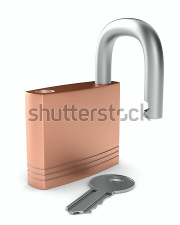 鋼 オープン ロック 白 孤立した 3D ストックフォト © ISerg