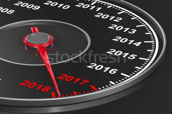 календаря спидометр черный 3d иллюстрации красный власти Сток-фото © ISerg