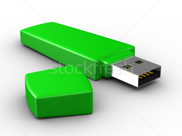 Сток-фото: Usb · Flash · белый · изолированный · 3D · изображение