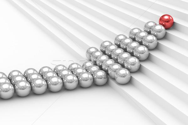 руководство белый изолированный 3D изображение знак Сток-фото © ISerg