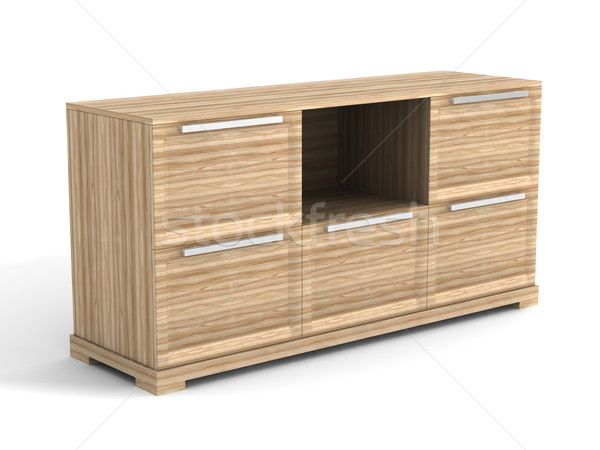 Locker on a white background. Isolated 3D image Stock photo © ISerg