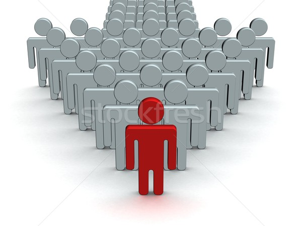 Index made of people. 3D image. Stock photo © ISerg