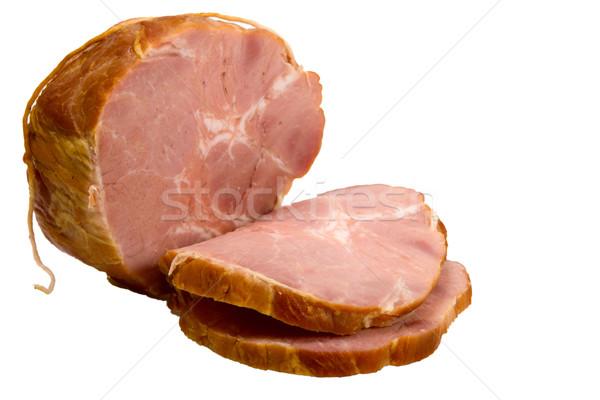 Appétissant pièce fumé viande croix rouge Photo stock © ISerg
