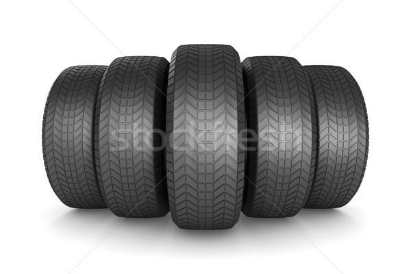 tire on white background. Isolated 3D illustration Stock photo © ISerg