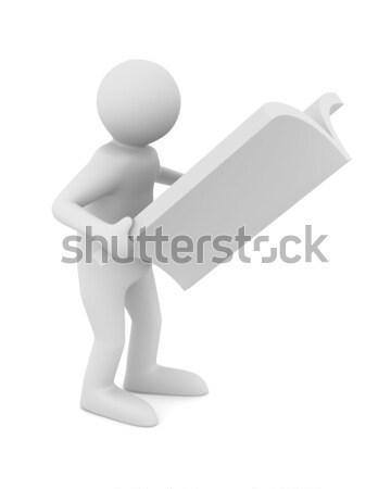 Сток-фото: человека · журнала · белый · изолированный · 3D · изображение