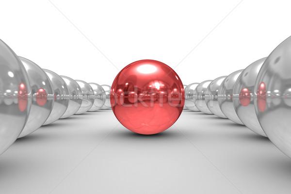 Photo stock: Blanche · isolé · 3D · image · résumé