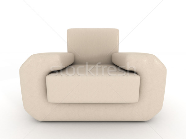 leather armchair on a white background. 3D image. Stock photo © ISerg